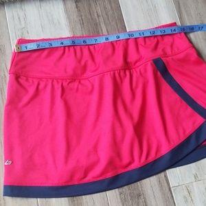 bolle Skirts - Bolle Faux Wrap Tennis Skirt Skort Rose Pink Navy